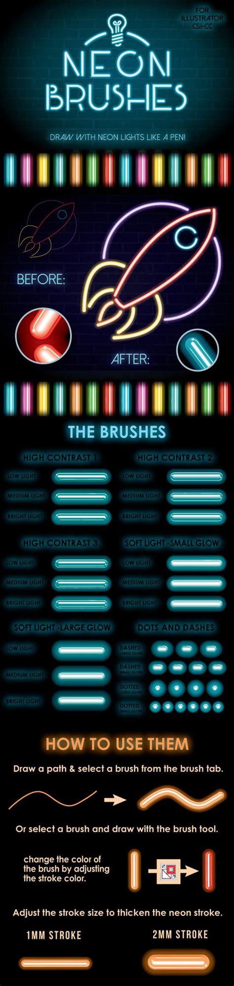 tutorial illustrator neon neon brushes pinterest adobe design and brushes
