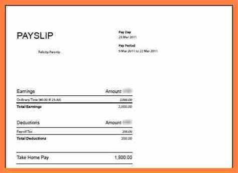 6 free salary payslip template download salary slip