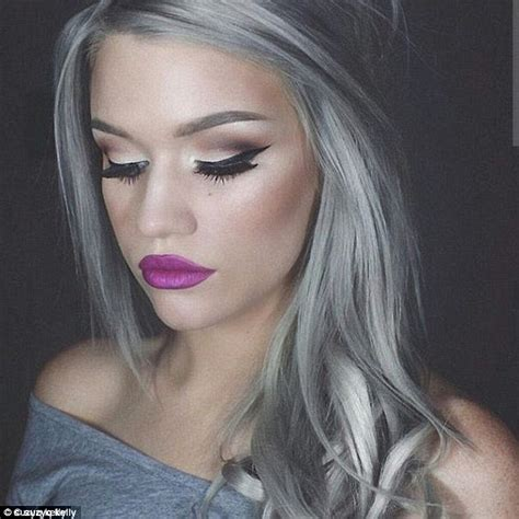 silver gray hair color five dye their hair grey for femail daily mail