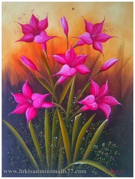 Lukisan Bunga Ungu Kaligrafi Rzk U contoh lukisan bunga yang gang loker spot