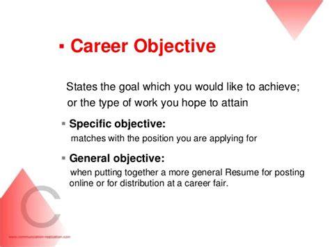 objectives for career development career objective statement resume career objective