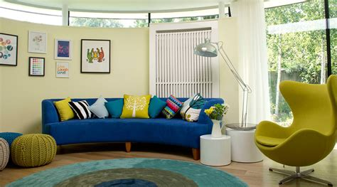 bohemian look blue circular sectional sofa bed with