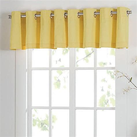 yellow bathroom window curtains buy newport grommet window curtain valance in yellow from
