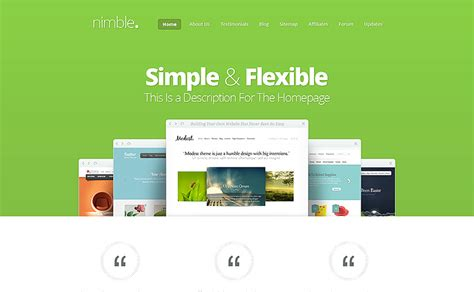 elegant themes gallery template nimble wordpress theme