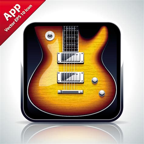 guitar icon free vector graphic download