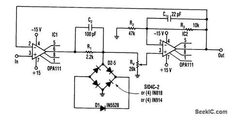 zener diode limiter one zener precise limiter control circuit circuit diagram seekic