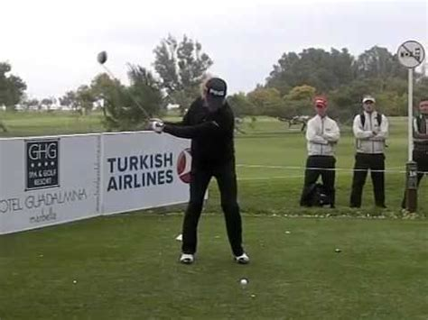 jimenez golf swing miguel angel jimenez golf swing driver slow motion