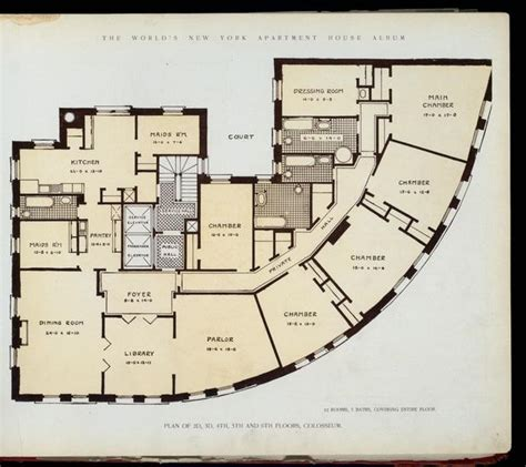 new york apartments floor plans 10 elaborate floor plans from pre wwi nyc apartments