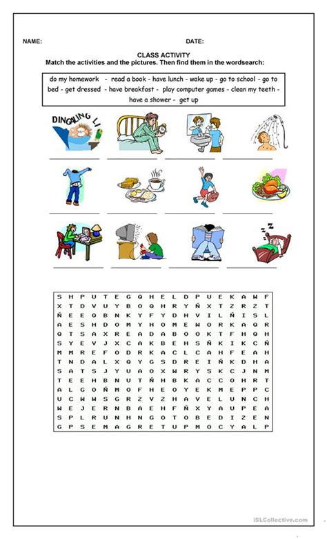 Education Worksheets For Adults by Everyday Activities Worksheet Free Esl Printable
