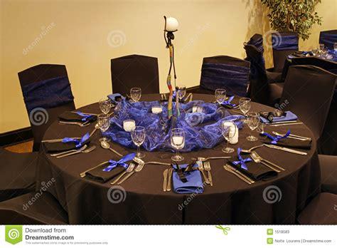 Black table setting stock photos image 1518583