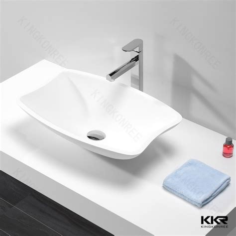table top basin bathroom sink square solid surface sink table top bathroom basins buy