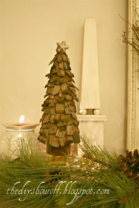diy wooden tabletop christmas trees shelterness