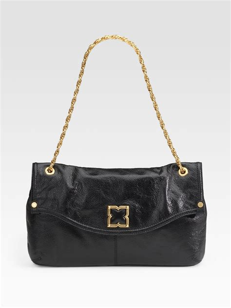 Bag Fatale by Bcbgmaxazria Large Femme Fatale Leather Demi Bag In Black