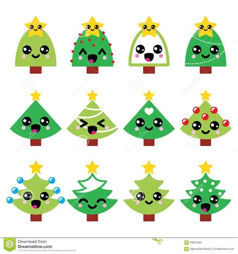 imágenes kawaii de navidad 193 rbol lindo del verde de la navidad de kawaii con los