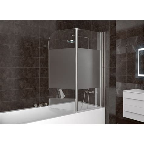 frosted shower screens bath shower enclosure bathtub shower screen folding glass screen right part frosted