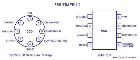 timer ic block diagram working pin  configuration
