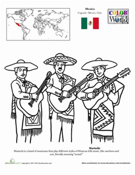 mariachi worksheet education com