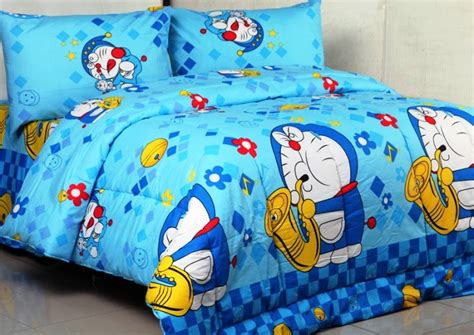 Seprei Motif Doraemon 6 12 seprei motif doraemon terbaru terlaris paling disukai anak