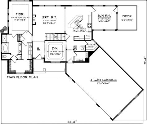 3 Car Detached Garage Plans by House Plan 73161 At Familyhomeplans Com