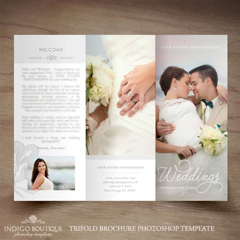 photography brochure templates wedding photography trifold brochure template client