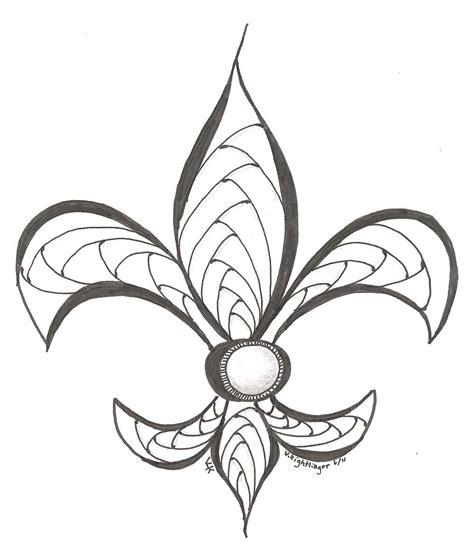 fleur de lis drawings clipart best