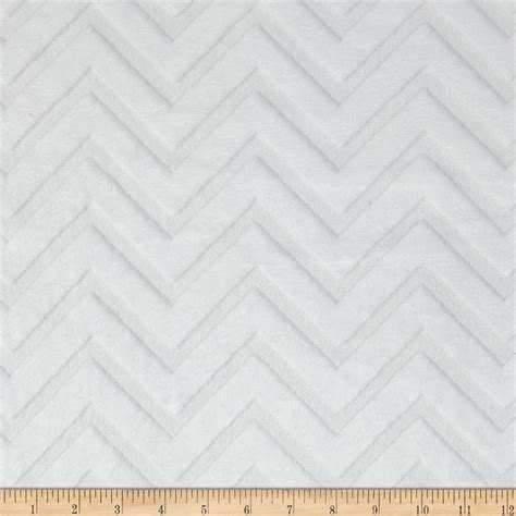 white pattern fabric shannon minky embossed chevron cuddle white discount