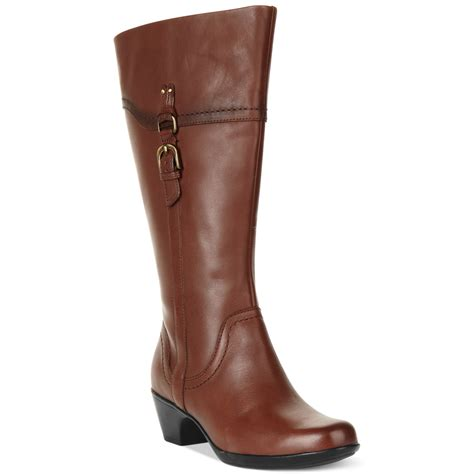 wide calf boots clarks ingalls ii wide calf boots in brown lyst