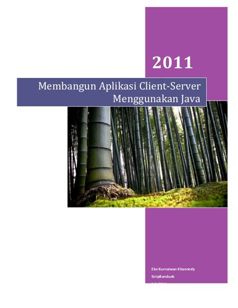 Membangun Aplikasi Database Client Server membangun aplikasi client server dengan java