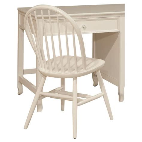 alaterre furniture links white wood bow back office chair