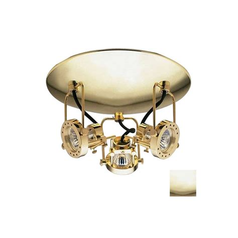 flush mount led track lighting shop plc lighting 3 light 11 in polished brass dimmable