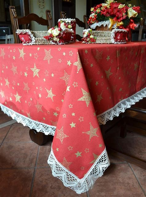 handmade christmas tablecloth golden stars tablecloths