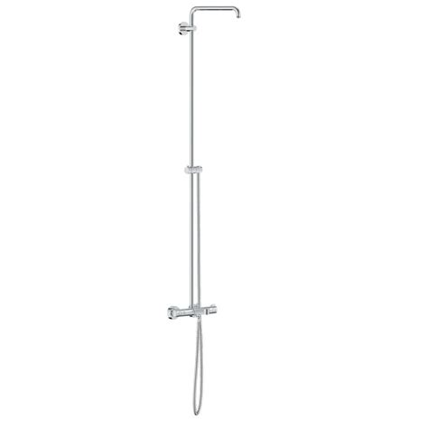 grohe 26194000 retrofit polished chrome showerpipe shower grohe 18 in retrofit shower system with standard shower