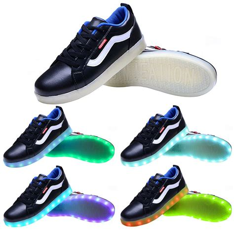 sport light up shoes men usb charging led light up sport shoes flashing