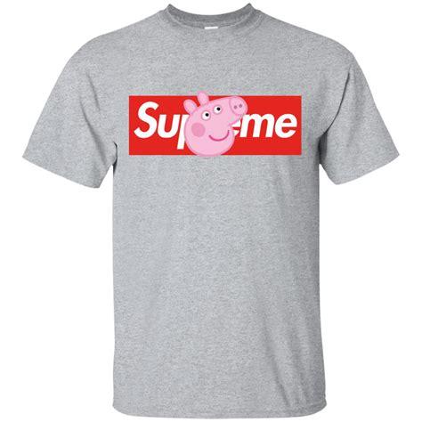 T Shirt Supreme 0 2 White Broy supreme peppa pig shirt hoodie sleeve