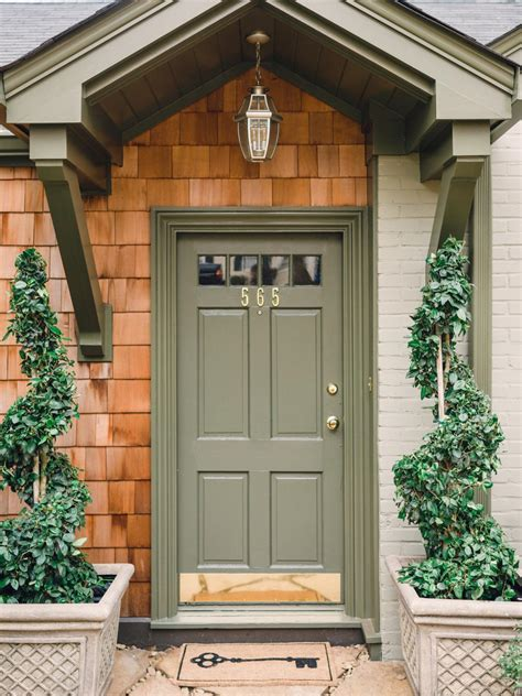 green front door photos hgtv