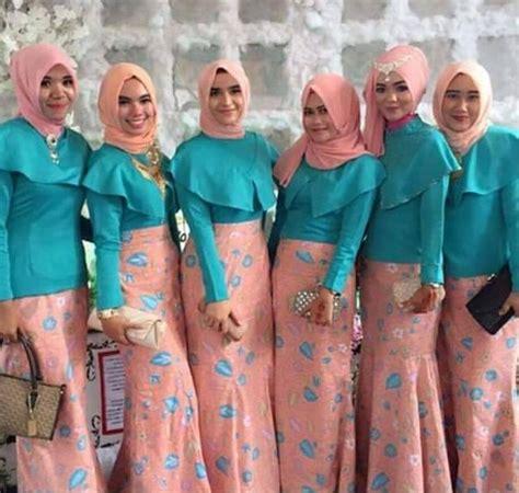 Stelan Kebaya Keluarga foto baju muslim kebaya modern kombinasi brokat untuk