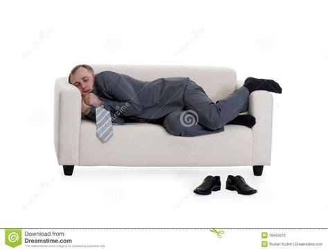 sleeping on sofa businessman sleeping on a sofa stock photo image 18455070