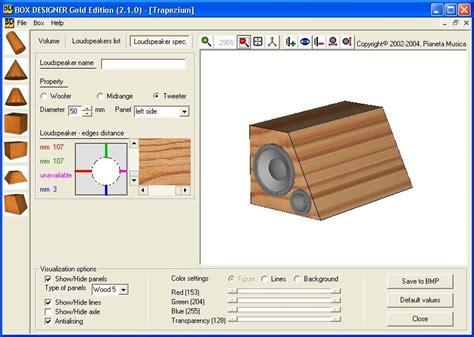 design software free subwoofer box design software packmage cad 3dbox cad