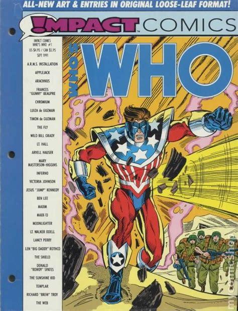 impact a safeguard novel books impact comics who s who 1991 leaf edition comic books