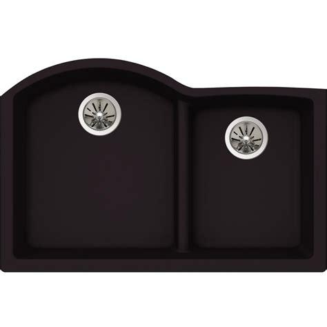 quartz undermount kitchen sinks elkay premium quartz undermount composite 33 in double