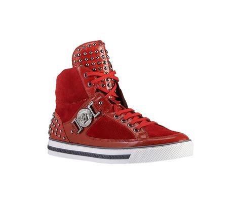 versace studded high top sneakers versace studded high top sneaker versacesneakers