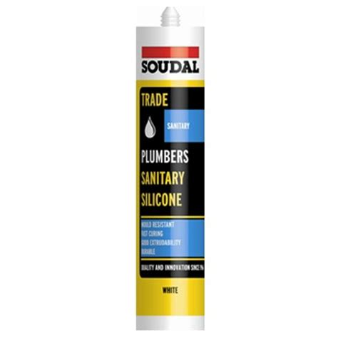 Silicone For Plumbing by Plumbers Sanitary Silicone Soudal Sanitary Grade