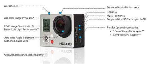 gopro features gopro 3 edition camcorder black co uk