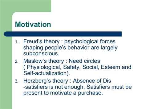 pattern theory physiology consumer behavior