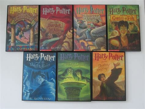 the of harry potter books complete set of harry potter book cover by allybooscreations