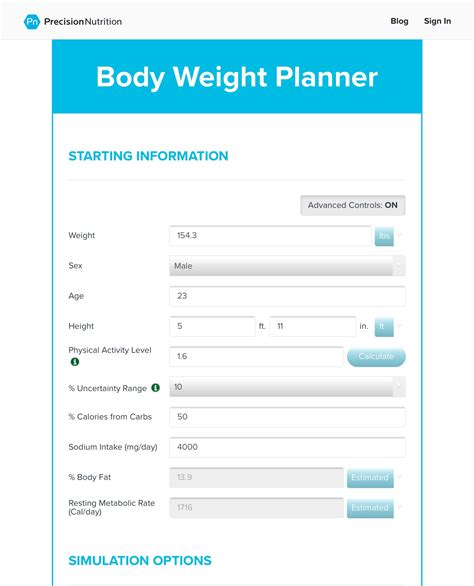 weight calculator recommended products upright movement
