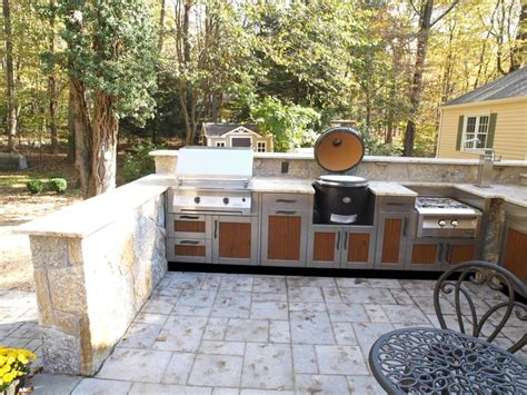 Outdoor Kitchen Grill Insert by Stainless And Insert Panel Big Green Egg Big Green Egg
