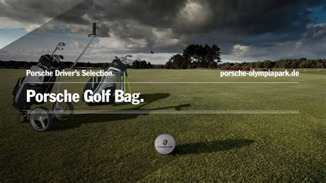 Porsche Golf Trolley by Porsche Drivers Selection Golf Standbag Cartbag Und