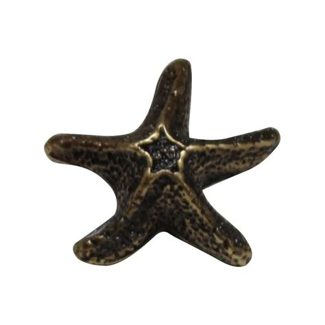 Starfish Cabinet Knobs by Design House Cubist 1 44 In Brushed Nickel Cabinet