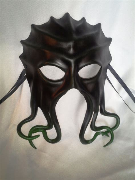 Handmade Leather Masks - handmade leather mask squid octopus by kelleyemporium